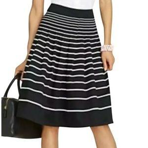 ⚡5/$15⚡Talbots Pleated Striped Midi Skirt